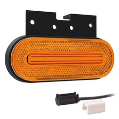 LED markeerlicht amber  | 12-24v |  1,5mm² connector.