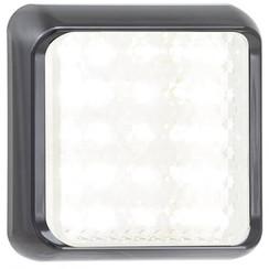 LED achteruitrijlicht met zwarte rand  | 12-24v | 40cm. kabel