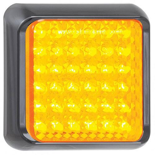 LED Autolamps  LED knipperlicht met zwarte rand  | 12-24v | 40cm. kabel
