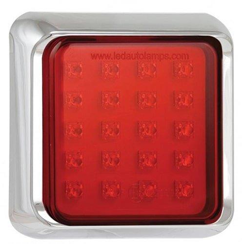 LED mistlicht met chromen rand    12-24v   40cm. kabel