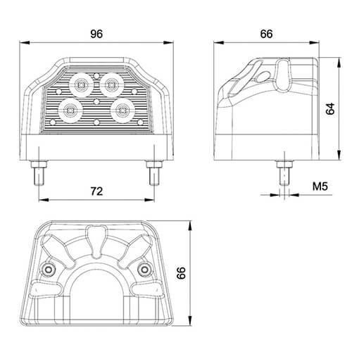 Fristom LED kentekenverlichting    12-36v  
