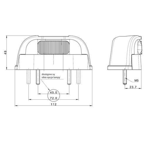 LED Kentekenverlichting  | 12-36v | volt 1,5mm² connector