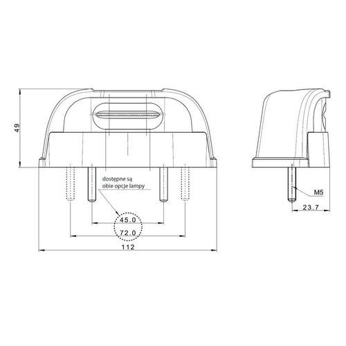 Fristom LED Kentekenverlichting  | 12-36v | volt 0,75mm² connector