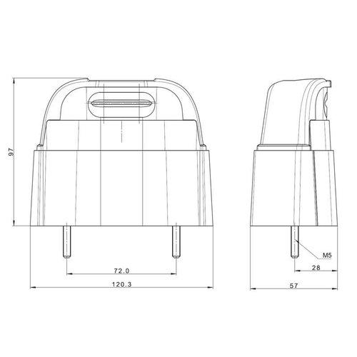 Fristom LED Kentekenverlichting  | 12-36v | volt 50cm. kabel