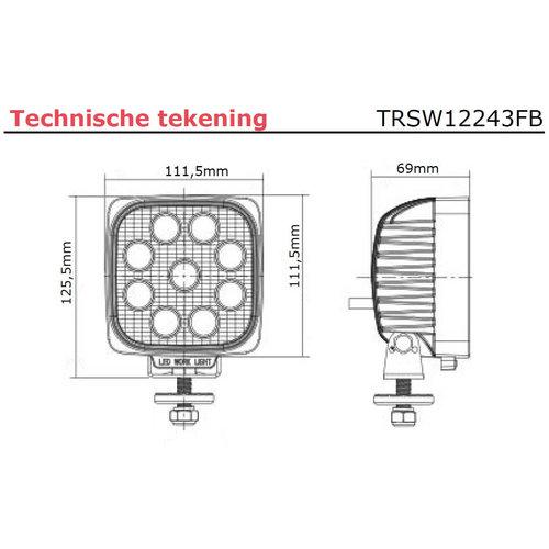 LED Werklamp | 2150 lumen  | 9-36v|