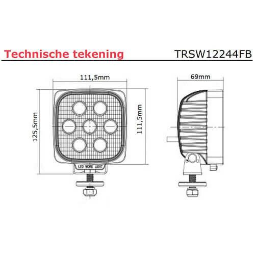 LED Work light | 2800 lumens | 9-36V |