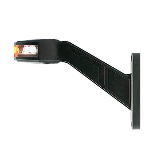 Rechts | LED breedtelamp   | 12-24v | 30cm. kabel (Rood/wit)