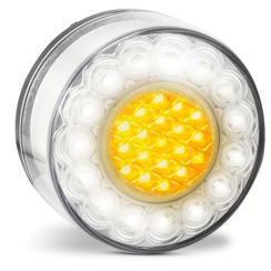 Ronde LED knipper/markeerlamp 24v