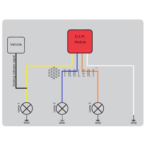 Dynamische knipperlicht module 24v