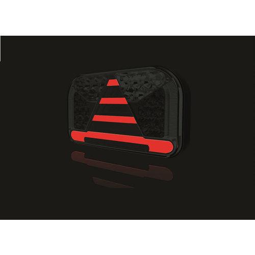 Fristom Rechts   LED achterlicht met kentekenlicht    12-36v   100cm. kabel