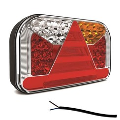 Right | LED rear light with license plate light | 12-36V | 100cm. cable