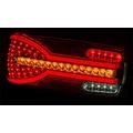 Rechts | LED achterlicht dynamisch knipperlicht  | 12-24v | 150cm. kabel