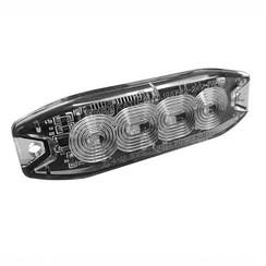 R65 Slimline LED Flitser 4 LED's Amber | 10-30v |