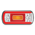 Fristom LED achterlicht met kentekenverlichting  | 12-36v | 5 pins
