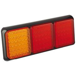 LED-Rücklicht mit schwarzem Rand | 12-24V | 40cm. Kabel