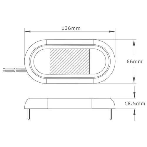 LED binnenverlichting met bewegingssensor 13cm.    12-24v   4500K