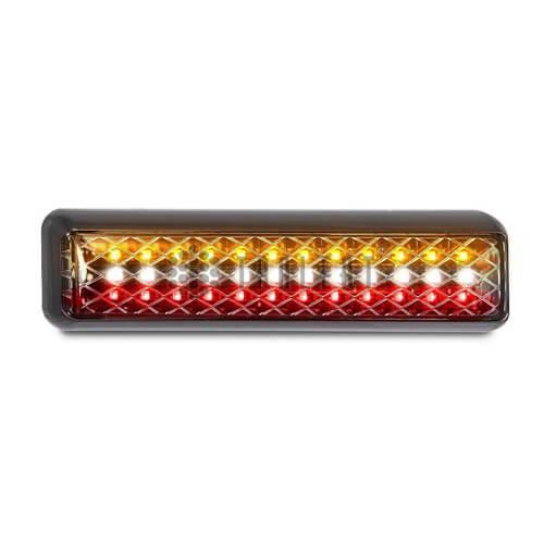 LED achterlicht slimline met achteruitrijlamp  | 12-24v | 40cm. kabel