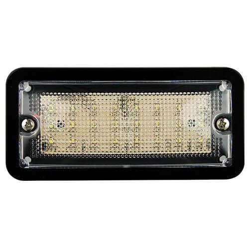 LED interieurverlichting zwart  12v, koud wit licht