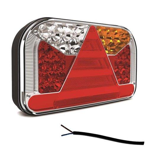 Fristom Links | LED achterlicht zonder kentekenlicht  | 12-36v | 100cm. kabel