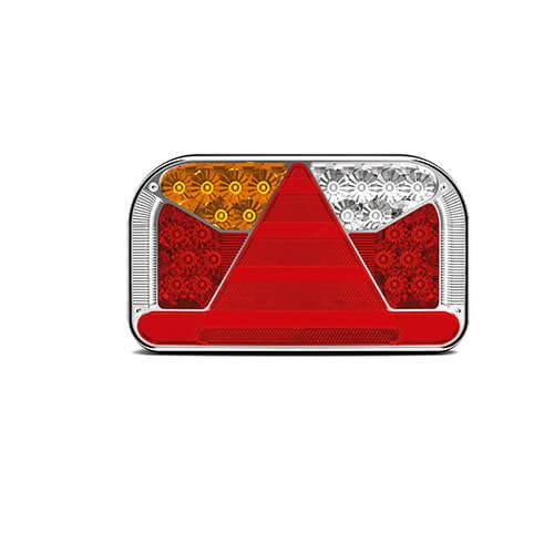 Fristom Links | LED achterlicht met kentekenlicht  | 12-36v | 5 pins