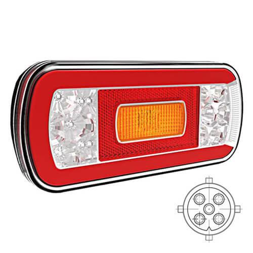 Fristom LED achterlicht zonder kentekenverlichting    12-36v   5 pins
