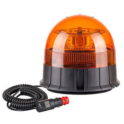 LED Zwaailamp Amber R65 met Magn- & zuig- montagevoet  | 12-24v |