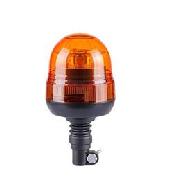 LED Zwaailamp Amber R65 met Flexi DIN montagevoet  | 12-24v |