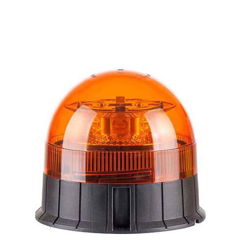 LED Zwaailamp Amber R65 met 3-bouts montagevoet  | 12-24v |
