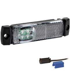 LED markeerverlichting wit  | 12-24v | 0,75mm² connector