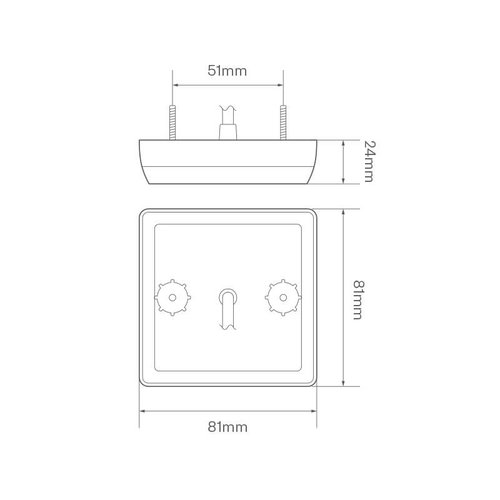 Compact LED brake / rear | 12-24v | 30cm. cable