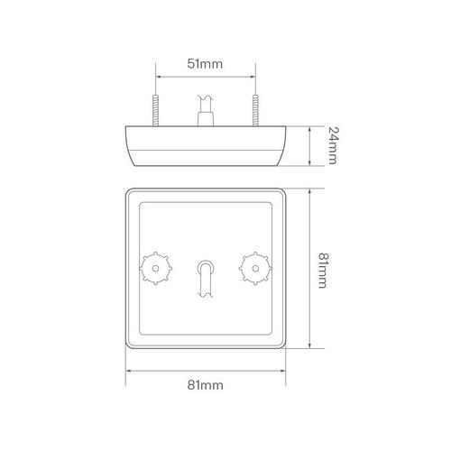 LED compact rem/achterlicht  | 12-24v | 30cm. kabel