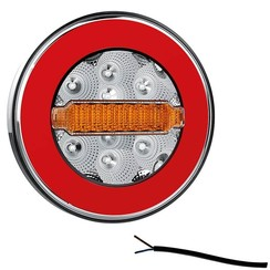Compact LED rear light without license plate light   12-36V   100cm. cable