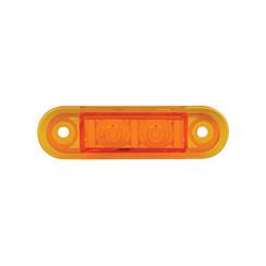 LED markeerlicht amber inbouw  | 12-24v | 20cm. kabel
