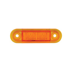 LED marker light amber flush | 12-24v | 20cm. cable