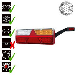 Rechts | LED Trailerlamp | dynamisch knipperlicht  | 9-36v | 7-PIN