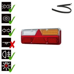 Right | LED light Trailer | dynamic flashing | 9-36V | 200cm. cable