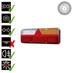 Right | LED light Trailer | dynamic flashing | 9-36V | 7-PIN | 200cm. cable
