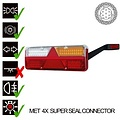 Rechts | LED Trailerlamp | dynamisch knipperlicht | 9-36vv | 7PIN | Super Seal | 200cm. kabel