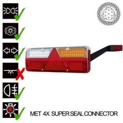 Rechts | LED-Lampen-Anhänger | dynamische Blinken | 9-36V | 7pin + + Super Seal Alarm