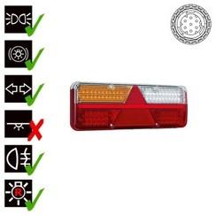 Links | LED-Anhänger-Leuchte | dynamische Blinken | 9-36V | 7-PIN