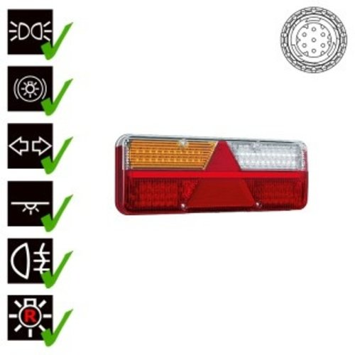 Links | LED trailerlamp | dynamisch knipperlicht  | 9-36v | 7-PIN