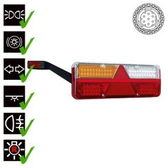 Left | LED trailer light | dynamic flashing | 9-36V | 7-PIN