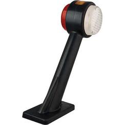 Rechts | LED Begrenzungsleuchten blinkt, gekröpft | 12-24V | 20 cm. Kabel
