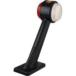 Rechts | LED breedtelamp  met knipperlicht, schuine steel  | 12-24v | 20cm. Kabel
