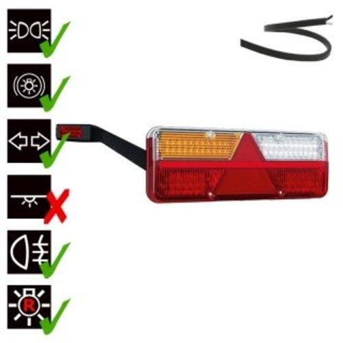 Links | LED trailerlamp | dynamisch knipperlicht  | 9-36v | 200cm. kabel