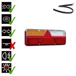 Left | LED trailer light | dynamic flashing | 9-36V | 200cm. cable