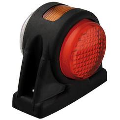 LED Begrenzungsleuchten, kurzer Stiel mit blinkenden | 12-24V | 20 cm. Kabel