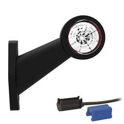 Links | LED breedtelamp  | schuine steel | 12-24v | 0,75mm² connector