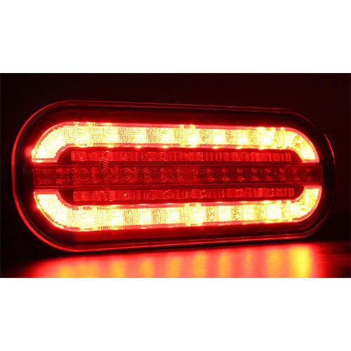 LED compact achterlicht met dynamisch knipperlicht  | 12-24v |