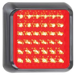 LED-Brems- / Rücklicht mit schwarzem Rand | 12-24V | 40cm. Kabel